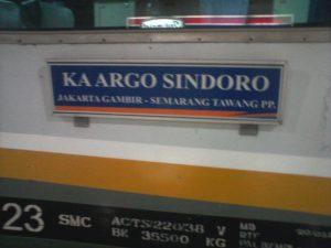kereta Argo Sindoro